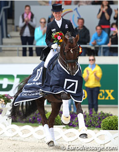 Helen Langehanenberg and Damon Hill are the 2013 CDIO Aachen Grand Champions (Photo © Astrid Appels)