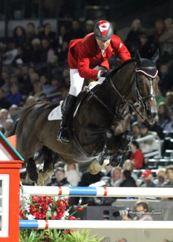 Hickstead, the sensational Jumping stallion that Eric Lamaze (CAN) rode to individual gold at the 2008 Olympic Games in Hong collapsed and died in Verona (ITA) November 6, 2011 (Photo:phelpsphotos.com]