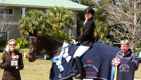 Noreen O'Sullivan of the Palm Beach Dressage Derby, Tori Polonitza and Seraphina MRF, and Marty Haist of the Horse of Course during the 30th Annual Palm Beach Dressage Derby.