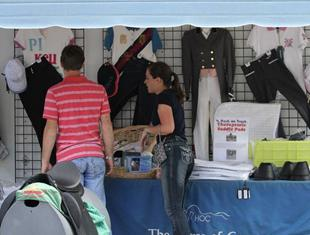 Spectators shopping at the USEF Dressage Festival of Champions (Photo: Tigger Montague)