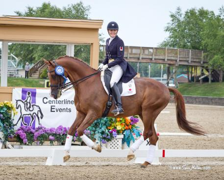 Ashley Holzer and Jewel's Adelante, her Grand Prix partner in the Centerline Events competition, is owned by Elaine Cordia van Reesema Photo: TerriMiller.com