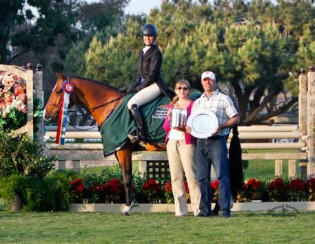 Hope Glynn pictured with husband Ned Glynn and Melissa Brandes of Blenheim EquiSports Photo courtesy of CapturedMomentPhoto.com