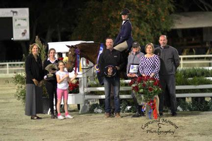 Hope Glynn and King's Peak Crowned Champs at 2014 USHJA WCHR West Coast Hunter Spectacular ©Captured Moment Photography