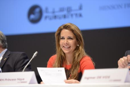 Representatives from National Federations on four continents made impassioned pleas for HRH Princess Haya, pictured, to reverse her decision not to stand for a third term as FEI President during today's FEI General Assembly in Montreux (SUI). (Photo: Richard Juilliart/FEI).