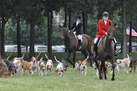 The Mill Creek Hunt Club was part of the opening ceremonies.