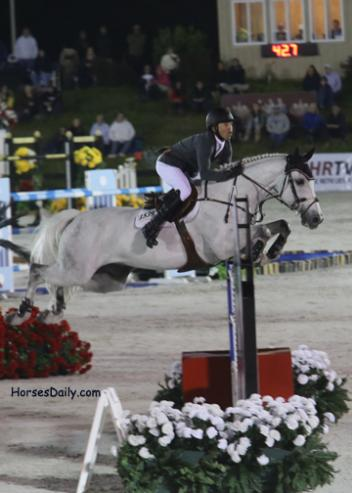Kent Farrington and Amalaya Investments' Willow, a KWPN Stallion by by Guidam Photo: Mary Phelps