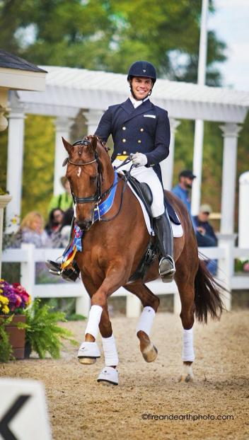 Benjamin Albright riding Kristin Cooper's Toscano (by Jazz) Image: Fire and Earth Photography