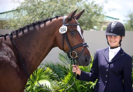 Claudia Gundersen and Mirage were the winners of the Custom Saddlery Young Ambassador Award during the GCDA May Show