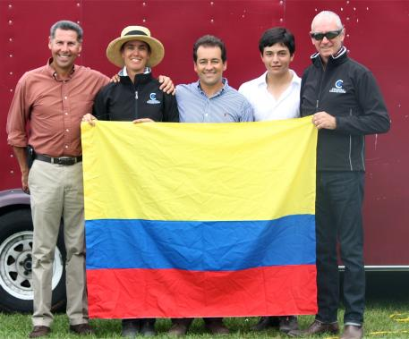 From left to right, Marco Bernal, Carmen Franco, Raul Corchuelo, Nicolas Torres Rodriguez, and Mauricio Sanchez will compete at the Nations Cup for Colombia.