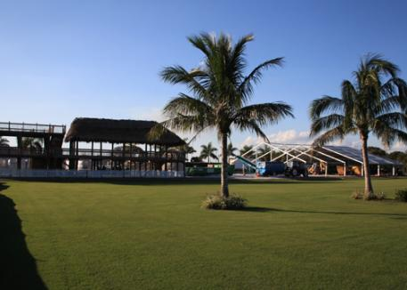 The viewing pavilion is in with member tents and more making rapid headway daily in time for the first GDF CDI Feb 2-5