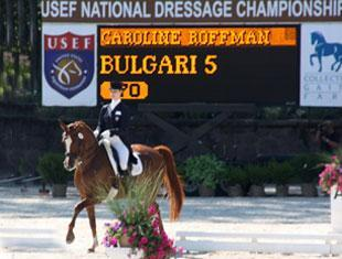 Caroline Roffman at the USEF National Dressage Championship.