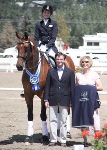 Allison Dechant Nimmo and her own Regulus 24 winning the Intermediare I with a 67.019%. Her score gave her the High Score CDI Ride and made her the winner of the Horseshow.com scrim sheet. - Photo: Dr. Mike Tomlinson