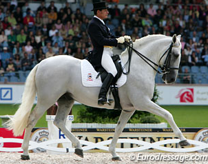Rafael Soto and Invasor at the 2006 World Equestrian Games in Aachen (Photo: © Astrid Appels)