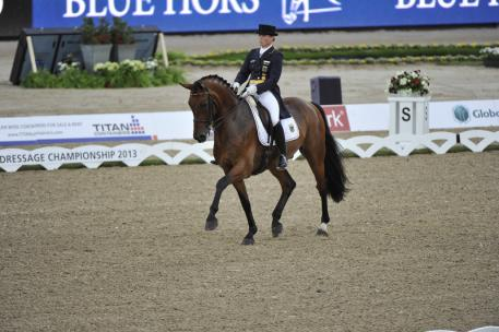 Isabell Werth and Don Johnson produced the best individual score on the opening day of the Blue Hors FEI European Dressage Championship at Herning, Denmark today to help put Germany in the lead at the halfway stage of the Team competition. (Photo: FEI/Kit Houghton)