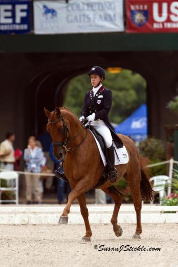 Isabelle Leibler and Watson 108 National Young Rider Dressage Championships (Photo: SusanJStickle.com)