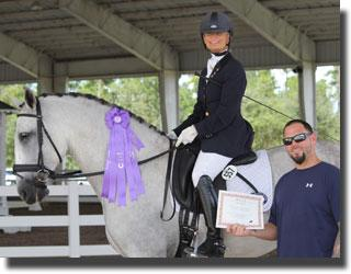 Janne Rumbough won the BEST Rider Award aboard her PRE Afilado at the Wellington Classic Dressage Fall Challenge I Show.