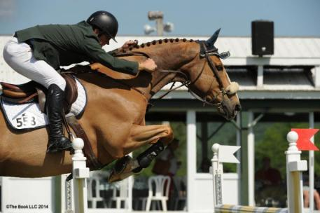 Jeff Welles rides Prem Dollar Boy to the win in the ,000 Brook Ledge Jumper Classic at the Lake Placid Horse Show.(c) The Book LLC