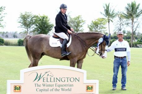 Jeffery Welles was named 2014 Wellington Turf Tour Leading Rider, pictured here aboard Billion with the Ridge at Wellington's George D'Ambrosio