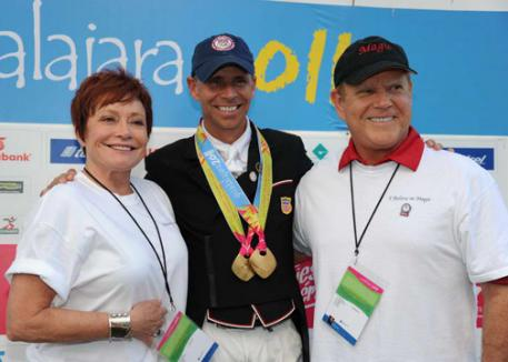 Jen and Bruce Hlavacek owners of Weltino's Magic with Steffen Peters