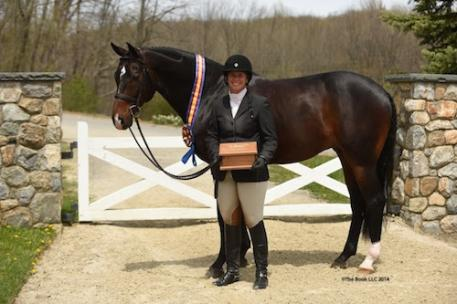 Jennifer Alfano and Candid in their Grand Hunter Championship presentation. Copyright The Book LLC