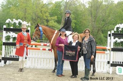 Jennifer Rowland and Lux Lovely with ringmaster Alan Keely,along with Barbara Plunkett and associates from Douglas Elliman Real Estate  The Book LLC 2013