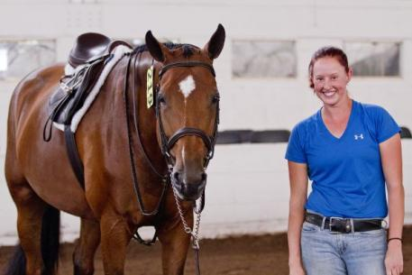 Jessica Litfin won the ,000 Ravens Wood Farm Groom's Class victory. Kendall Bierer/Phelps Media Group.