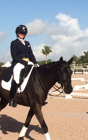 Jodie on Wendy Smith-Boone's Sanidin at the Global Dressage Festival