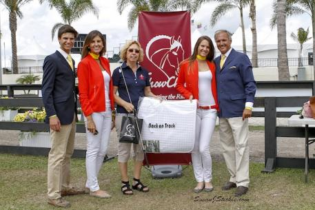 The Matute Family - Juan Jr., Maria, Paula, and Juan - shown here with Michelle Hundt of ShowChic, won the Best Turnout Award at the FEI jog  Photo: SusanJStickle.com