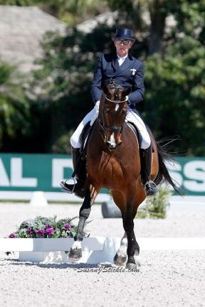 John McGinty riding Playboy during the 2013 Adequan Global Dressage Festival. (Photo courtesy of SusanJStickle.com)