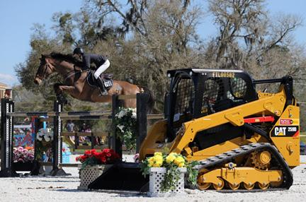 Jordan Coyne and Lazaro jump to a win in the ,000 Ring Power Grand Prix, presented by Zoetis, at HITS Ocala. ©ESI Photography