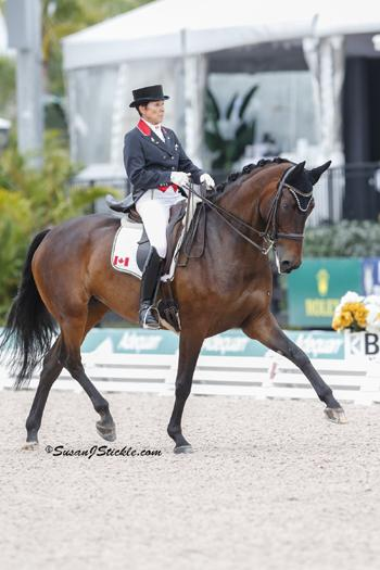 Three-time Pan Am individual gold medalist Christilot Boylen, pictured here riding Hudson (Photo by Susan J Stickle)