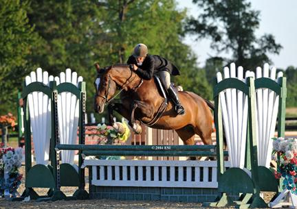 Dudley Mac Farlane and All Carolina jump to a win in the ,500 Platinum Performance Hunter Prix at HITS Culpeper. ESI Photography