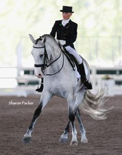 Janne Rumbough and JR win Fourth Level Markel/Wellington Classic Dressage 2010 Credit: Sharon packer Photography