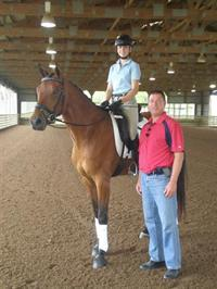 Scott Hassler with Kalie Beckers and Bienvenu ZSH. (Photo: USEF Archives)
