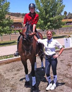California Kassie Barteau on her own Aramo, a 6-year old KWPN with Shannon Peters