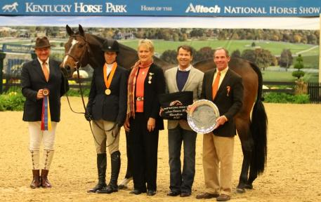 Katie Robinson and Rock Steady were named Amateur-Owner Hunter Grand Champions