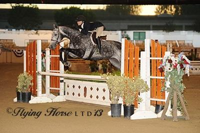 Katie Gardner and Diamond River win again in the ,000 USHJA National Hunter Derby Photo: Flying Horse Photography