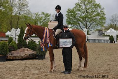 Katie Robinson and Sutton Place with trainer Brady Mitchell of Heritage Farm © The Book LLC.