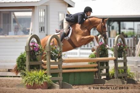 Katie Robinson and Sutton Place scored the Adult Amateur 36-49 Hunter Championship at the I Love New York Horse Show. Photo By: Parker/Russell - The Book LLC.