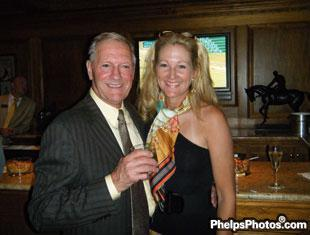 Roger Attfield and Tina Konyot at Keenland Race Course