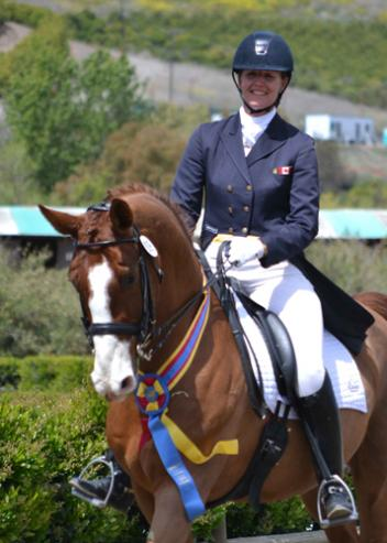 "Canada's Rochelle Kilberg & ""Rudy"" won the Intermediaire Freestyle on the final day of the Festival of the Horse CDI 3*/Y/J Presented By HorseShow.com. (Photo: Jennifer M. Keeler)"