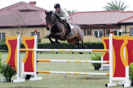Kevin Babington and Shorapur on their way to the top in the ,000 HITS Grand Prix, presented by Zoetis. ©ESI Photography