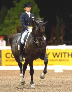 Tina Konyot on Calecto V, third in the freestyle