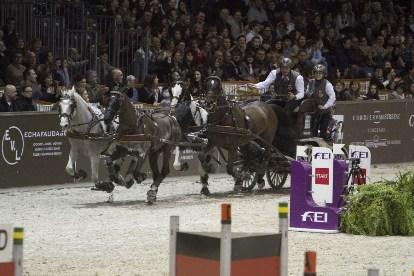 Koos de Ronde, reigning FEI World Cup™ Driving champion, got the new season off to a flying start with a win at Hannover. (Photo: Rinaldo de Craen/FEI)