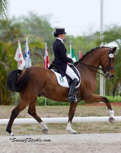 Olivia LaGoy-Weltz and Pikardi in their winning Brentina Cup ride at the IHS Palm Beach Dressage DerbyCredit: SusanJStickle.com