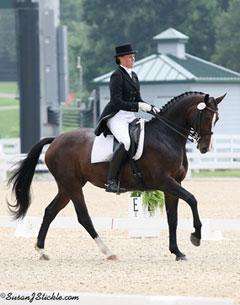 Megan Lane riding Caravella earned the Individual silver medal in the Young Riders Individual Test (Photo courtsey of SusanJStickle.com)