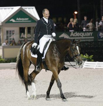 Lars Peteresen and Mariett at the 2014 Adequan Global Dressage Festival Photo: Betsy LaBelle