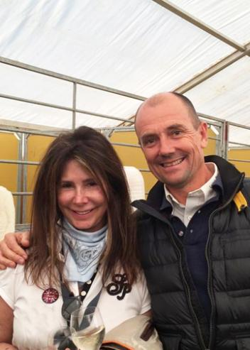 Marcia Pepper and Lars Petersen owners of Mariett at the 2014 Hamburg Derby  Photo: Melissa Taylor