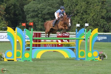 Laura Kraut and Constable won the Prix Equidia Life International Jumping Competition at the 2013 Jumping Chantilly. Photo Courtesy of Sport Fot.