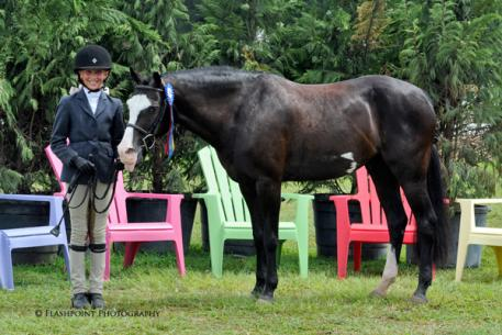 Text Me Later won the Green Pony Hunter Division Championship with Laura Neely. Flashpoint Photography